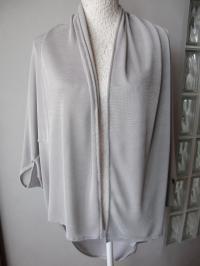 newest e8933 54ffa Tulipan Style - Copri spalle in maglina grigio perla